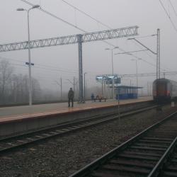Z przejścia między peronami