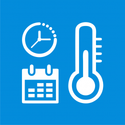 wbudowany zegar, kalendarz, termometr.