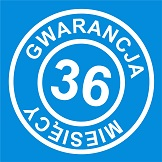 36 miesięcy gwarancji