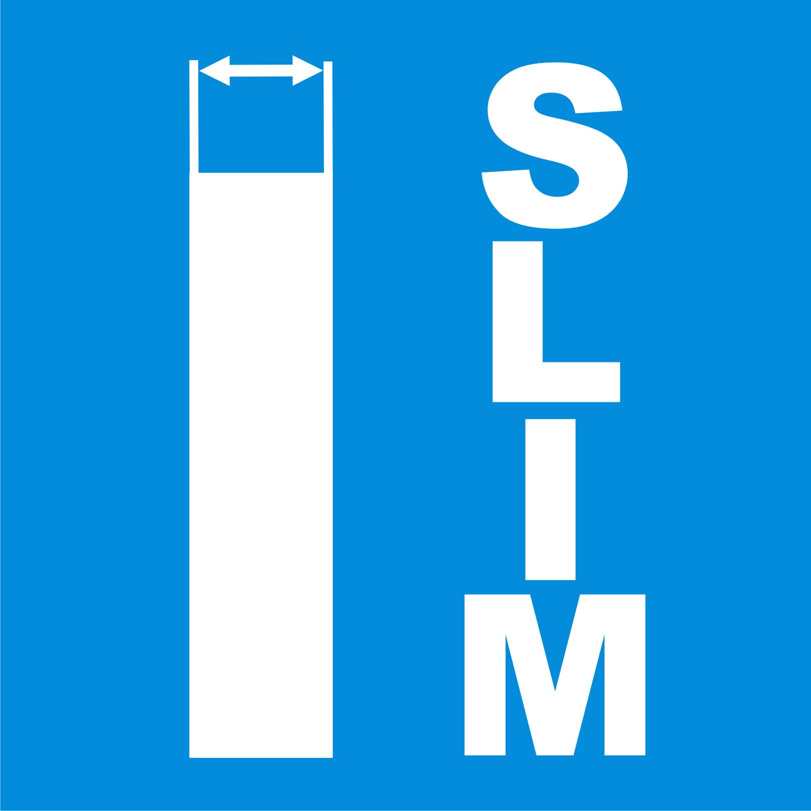 Cienka obudowa typu SLIM.