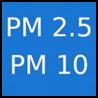 natężenie pyłów PM2,5 i PM40