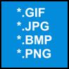 dostępne wybrane formaty plików graficznych i wideo